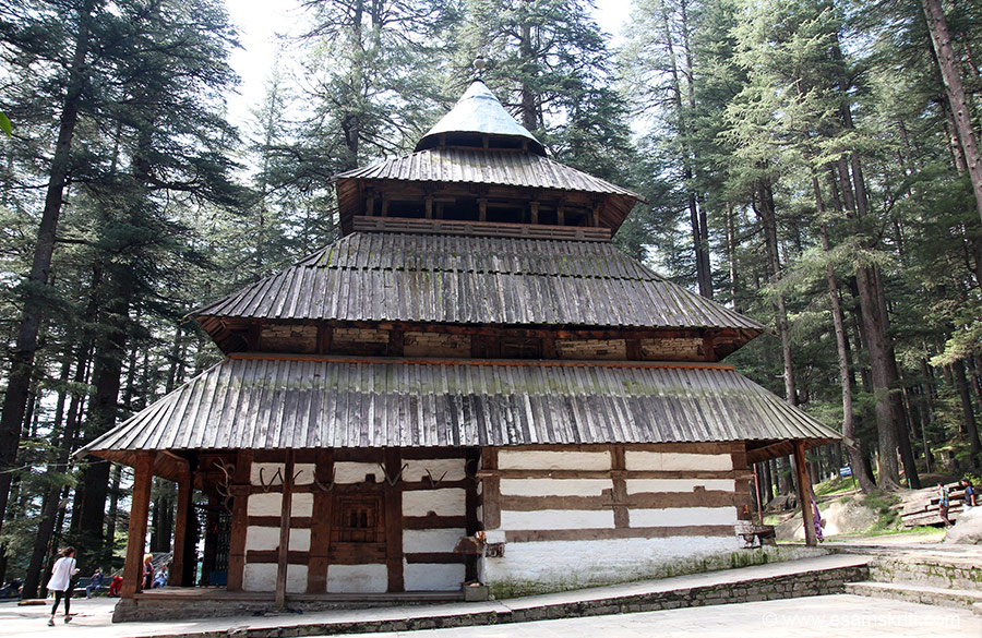 Side view of Hidimba Devi Temple. Prashar temple is in village Kamand 12 kms from Kullu. It took 60 years to build temple. Chaini Kothi is 35 kms from Kullu. It was used by rulers to store