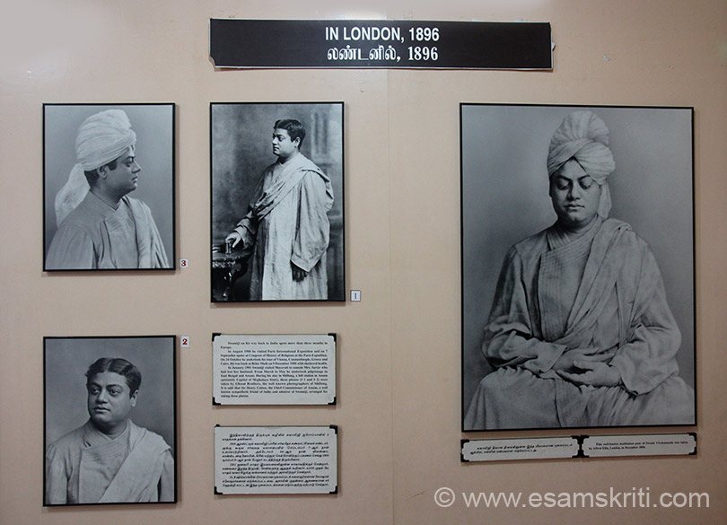 "Extreme right meditative pose taken in London 1896. Pics 1 and 2 were taken in Shillong, Meghalya. He addressed gathering there. In hall where he addressed stands a Cultural Centre there today. To see pics <a href=""http://www.esamskriti.com/photo-detail/Vivekananda-Cultural-Centre-Shillong.aspx"" target=""_blank"">Click here</a>"