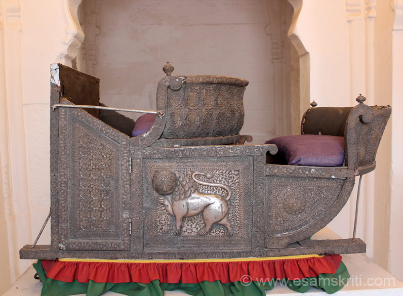 Silver Howdah of Mughal king Shah Jahen.