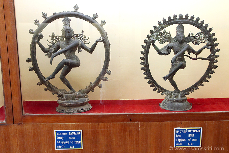 Left is 11-12th century is MELAYUR. Right is 11th century KEEVALUR.