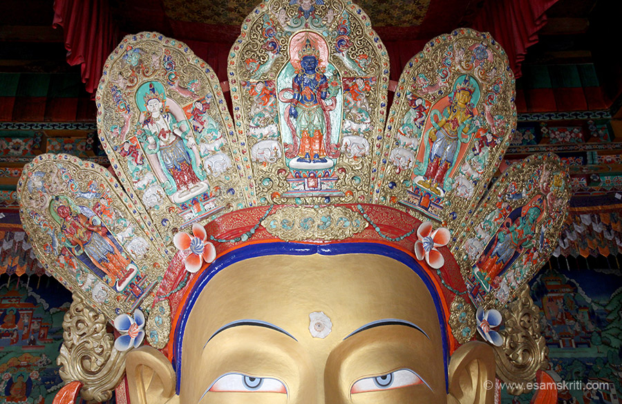 The MAITREYA temple is installed to commemorate the visit of Dalai Lama in 1970. The statue is 49 feet high.