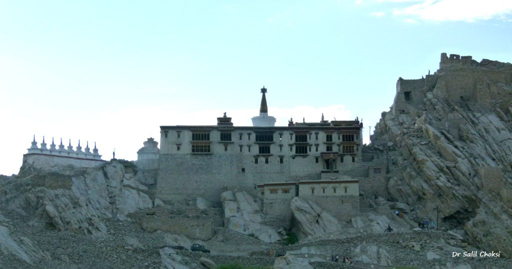 "The Shey monastery is noted for its giant copper with gilded gold statue of a seated Shakyamuni Buddha. To know more <a href=""http://www.ladakhadventure.com/ladakh-monsteries/shey-gompa.html"" target=_blank>click here.</a>"