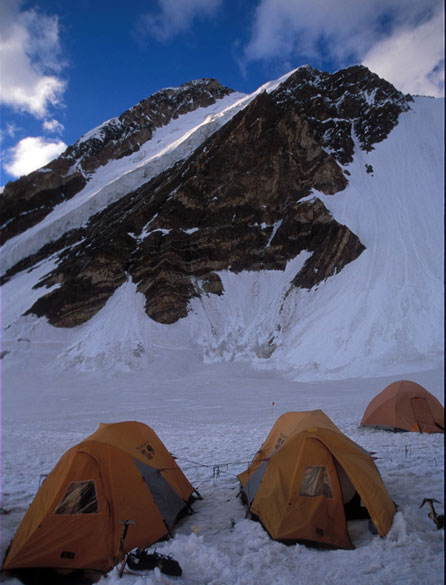 Camp 1 - Lung Tung glacier.