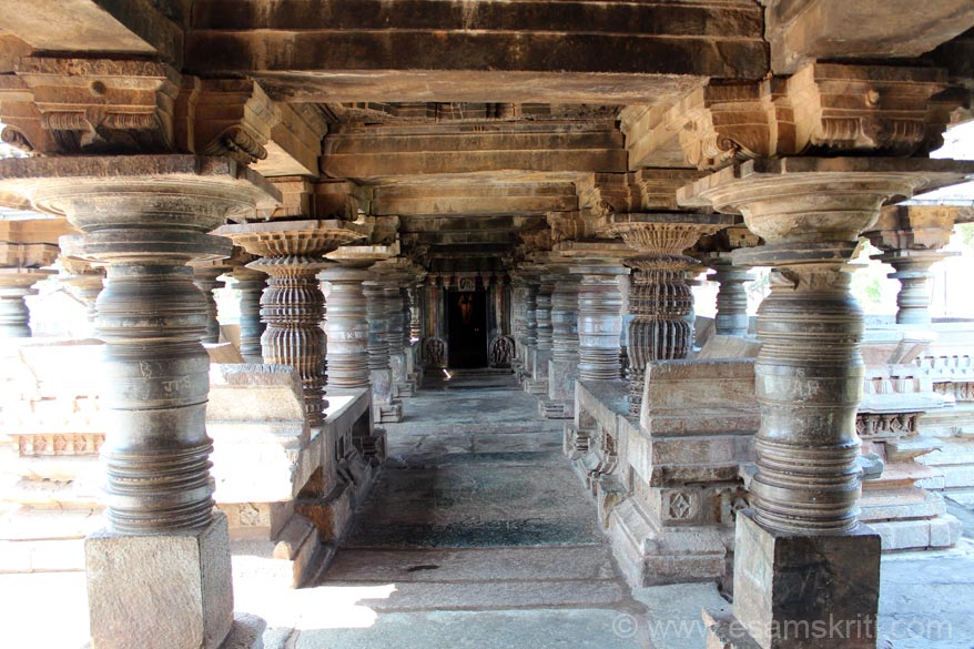 Second hall or navranga. Here the pillar design is different.
