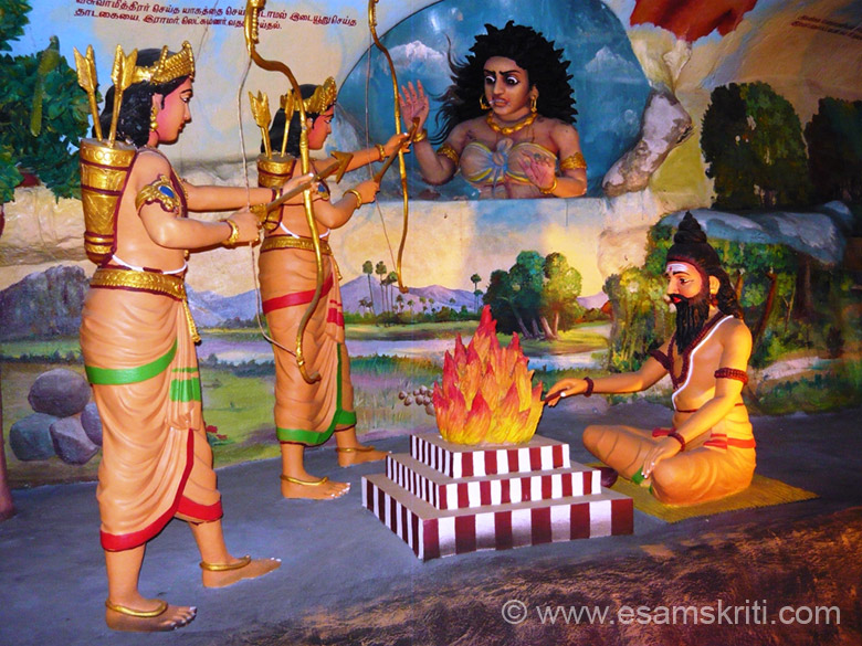 Scenes from Ramayana.