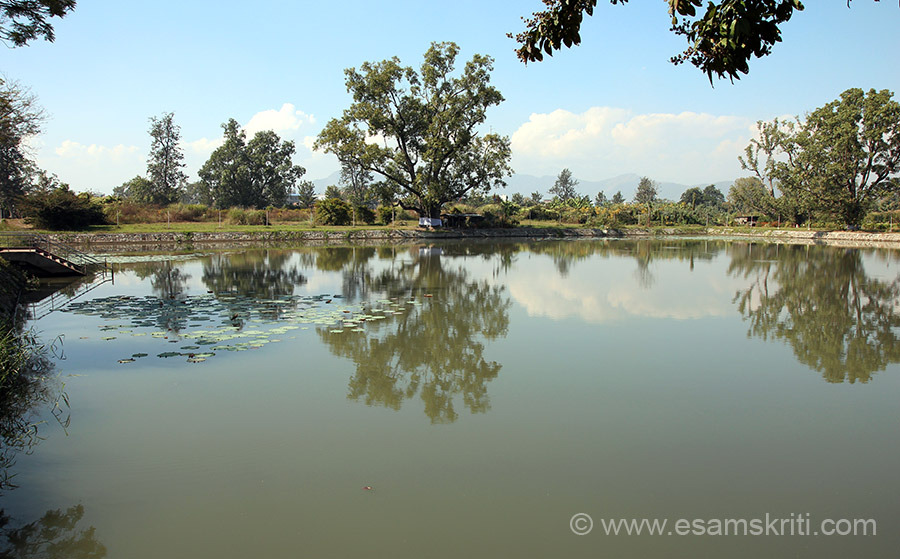 "This is called NUNGJENG PUKHRI ACHOUBA. It is a sacred pond believed to be abode of Lord Pakhangba - king who ascended throne in 33 A.D. Religious rituals are performed here. To read all about Kangla  <a href=""http://en.wikipedia.org/wiki/Kangla_Palace"" target=""_blank"">Click here</a>"