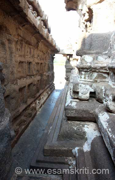 Pathway called the perambulatory passage between the temple and outer wall. Note design.