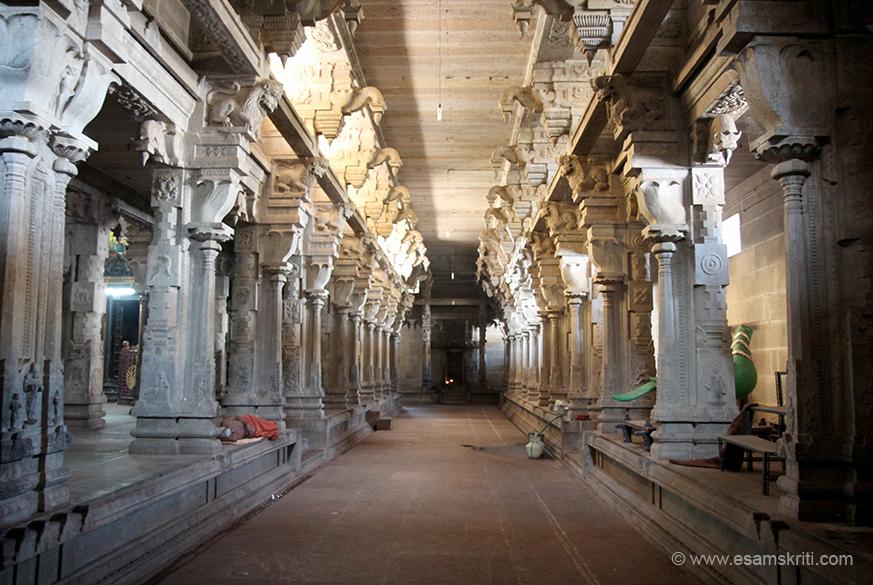 Temple corridor.