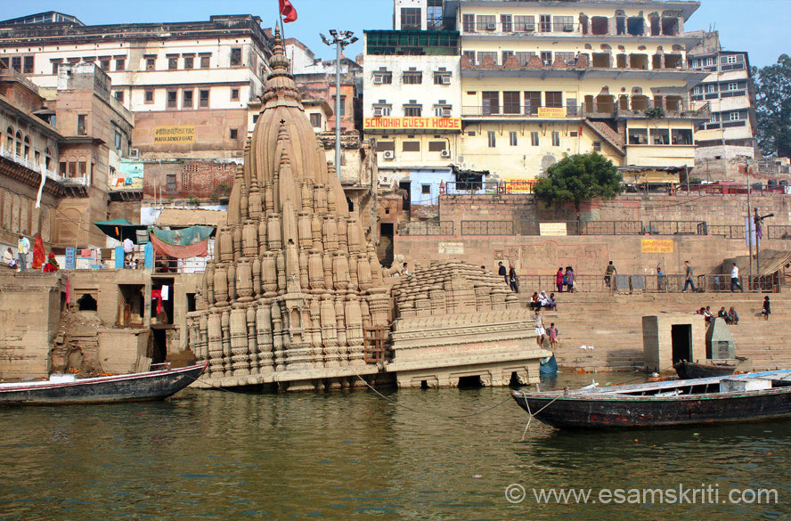 Tilting temple in water is near the Scindia Ghat. Plan the temple/ashram visit in a way so u cover all temples in one area at a go. Kalbhairav Mandir is known as the most ancient temple 