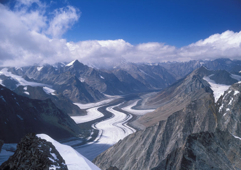 Artistic Barashigri Glacier.