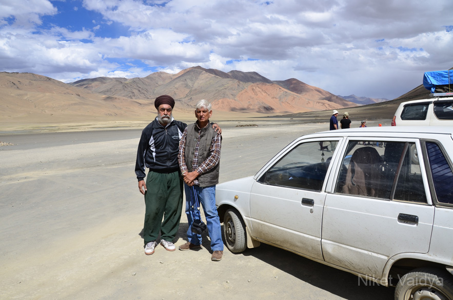These two gentlemen are from Dehradun. Theyre both 70+ years of age. They decided to do a road trip from Dehradun to Srinagar and back via Leh in a Maruti 800 and just a few rucksacks. Staying wherever they could on the way...talk about inspiration!!