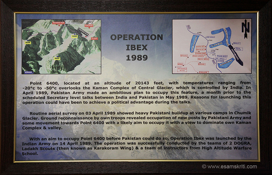 Details of Operation IBEX 1989. Pakistan wanted to occupy Point 6400 at 20,143 feet before Secretary level talks. Indian Army occupied Point 6400 before Pakistan could do so.