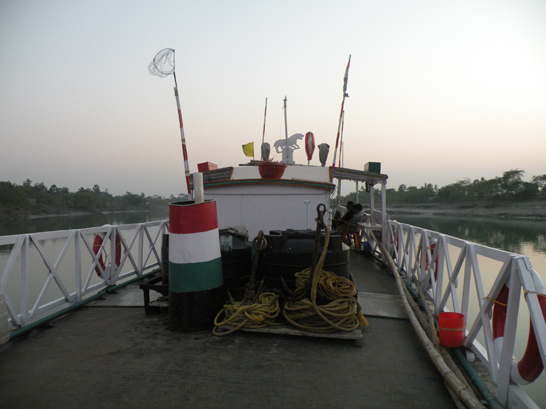 M V Bholanath - during the evenings we enjoyed sitting here on the upper deck of the boat.