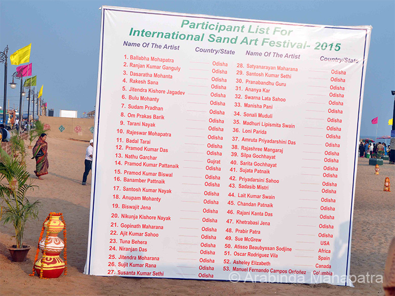 List of artists who made the 2015 International Sand Art Festival Konarak a grand success. Wish PM Modi had visited to see how his Swach Bharat campaign has caught the imagination of sand artists.