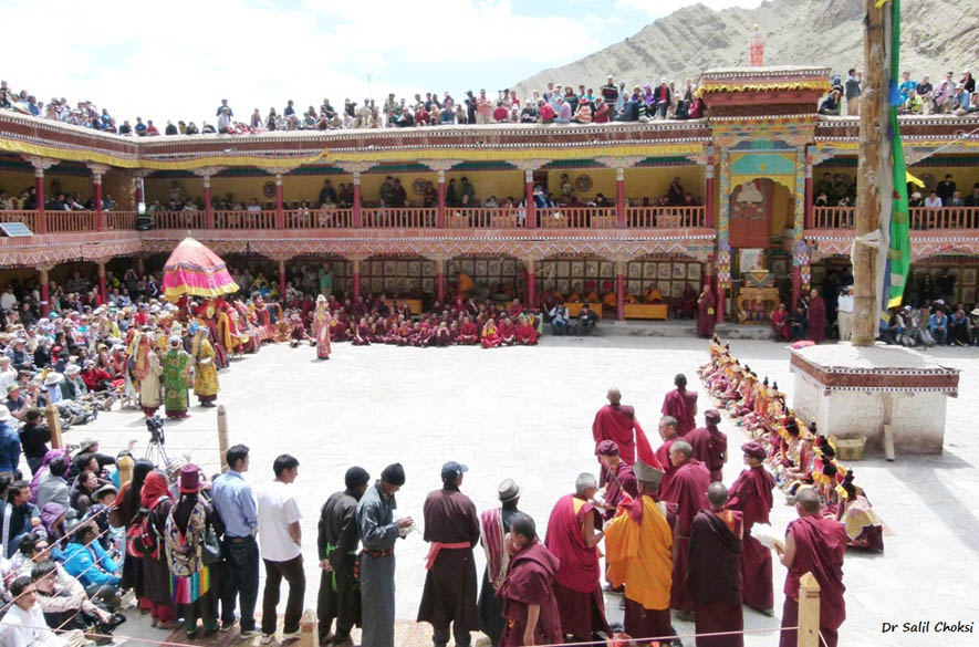 A full house at Hemis Monastery.