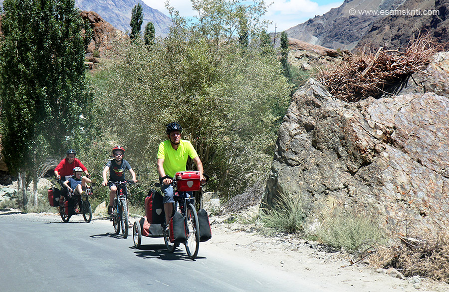 "Saw so many foreigners cycling all over Ladakh. Drive from Kargil to Panikhar is about 2 hours, another 4 hours takes you to Rangdum. To see pics of Spiti Valley <a href=""http://www.esamskriti.com/photo-detail/Spiti-Valley.aspx"" target=""_blank"">Click here</a>"