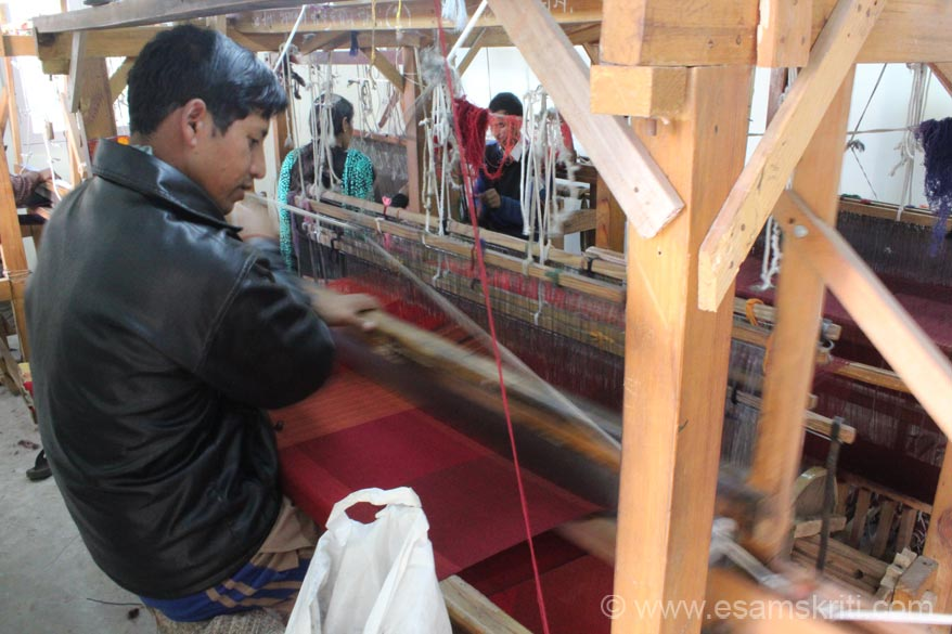 This is process of weaving the shawl. The shawl collection of CHIRAG is very impressive. U shall see some pics.