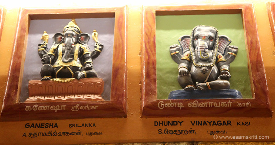 "Left is Ganesha Sri Lanka. Right is Dhundy Vinayagar Kashi. Ganesha is truly India``s most globalised God. To read article on same subject by Vimla Patil <a href=""http://www.esamskriti.com/essay-chapters/Ganesha-~-Global-God-in-a-Globalised-World-1.aspx