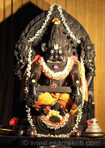 Yog Narasimha - meditation mode to control his mind after controlling the demon.