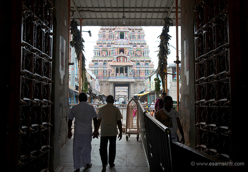 View from gate below gopuram 3. U can see gopuram two.
