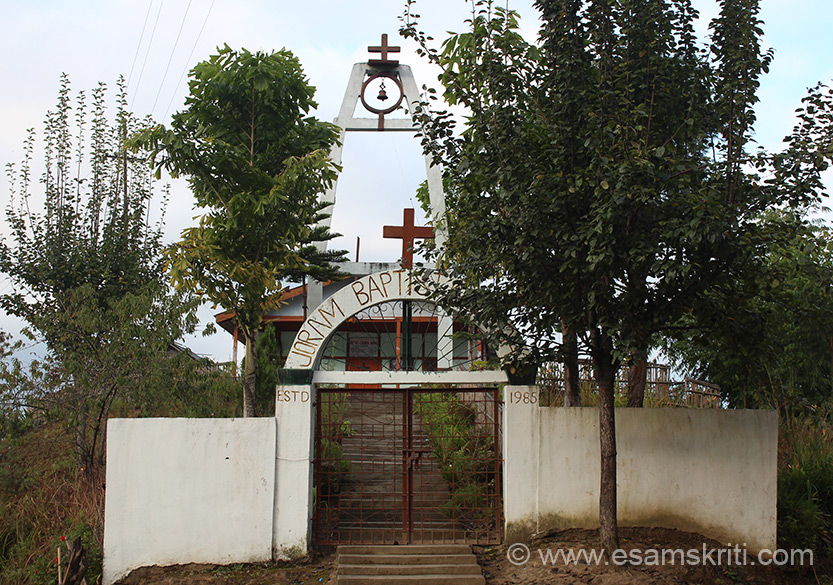 Joram Baptist Church is somewhere between Ziro and Itanagar, again in the midst of nowhere.