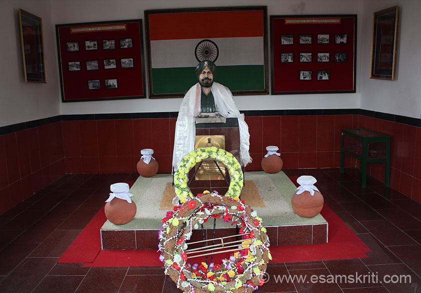 "Inside the Memorial is image of Sub Joginder Singh. To see pics of Tawang War Memorial <a  href = ""http://www.esamskriti.com/photo-detail/Tawang-War-Memorial.aspx"" target = ""_blank"" > Click Here </a>"