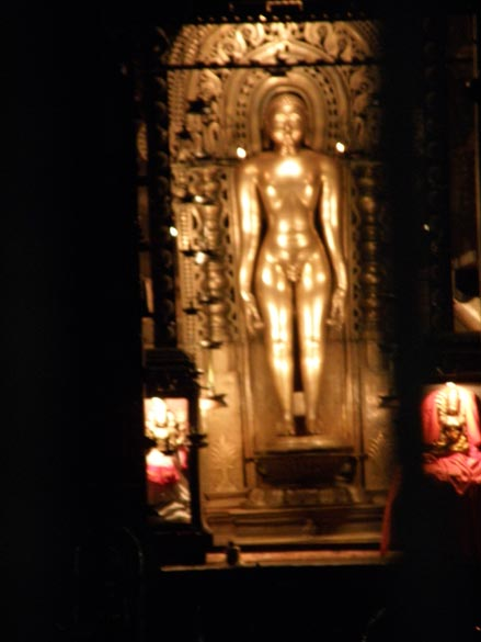"U see ""The 2.5 metres tall bronze image of Lord Chandranatha Swami housed in the sanctum of this basadi is considered to be an image of utmost importance in Jainism."""