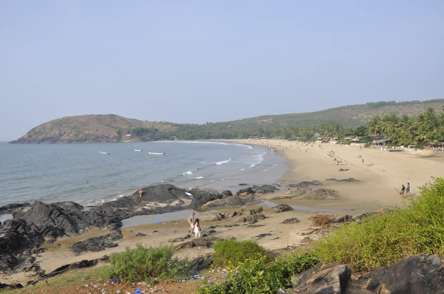 You see Kudle beach. It has lots of shacks, restaurents, places to stay and water sports.