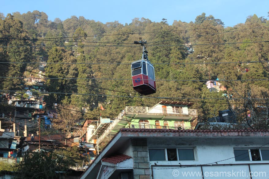 I wanted to take the ropeway so was in a hurry. The last ticket is booked at 4pm. Was late but pleaded to allow me to take it. From hill top u get a Himalayan View and there is Appu