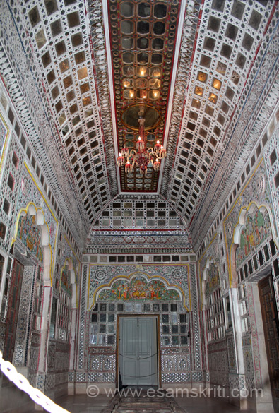 This is Sheesh Mahal or palace of mirrors.