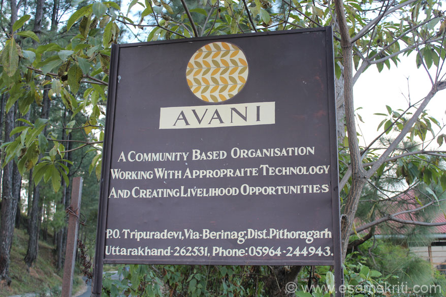 I was driving back from Patal Bhubhneshwar enroute to Chaukori when saw board of ngo Avani. It started in 1997, run by Rajnish Jain n his wife Rashmi Bharti. ``A realization of the its