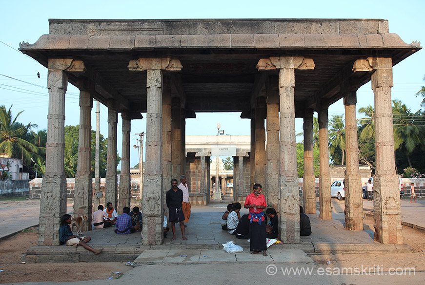"""The temple is dedicated to Sri Adi Varaha Perumal (Lord Vishnu in the form of Wild Boar). Thiruvidanthai is the 62nd temple of 108 Divya Desam vishnu Temples."" The temple is enroute from Chennai to Mahabalipuram. You see the Mandapam."