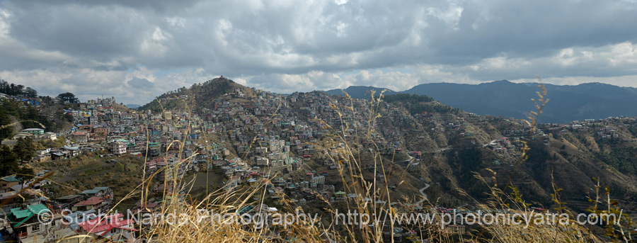 Panoramic view of Shimla.