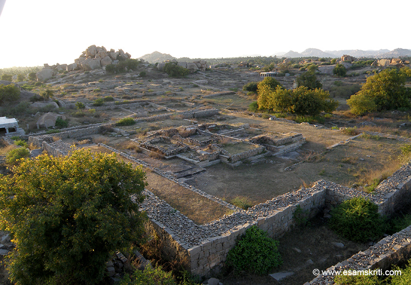 Close to the royal enclosure area is a sun set point. Ruins of houses seen from this point.