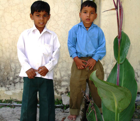 We met two interesting boys Keshav and Govind.