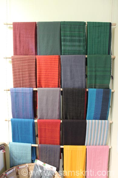Display of shawls. To encourage women to become more financially independent, it has promoted Uttaranchal Sangharsh Mahila Sangh, a federation of exclusively women's SHG``s. To read more <a target=_blank href=http://chirag.org/what-we-do/livelihood-support/training-guides>Click here</a>