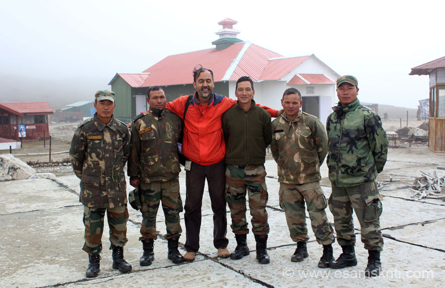 U see me with soldiers at the Bumla Border. This collection of pictures is a tribute to every member of the Armed Forces, past present and future. This visit was at the fag end of my