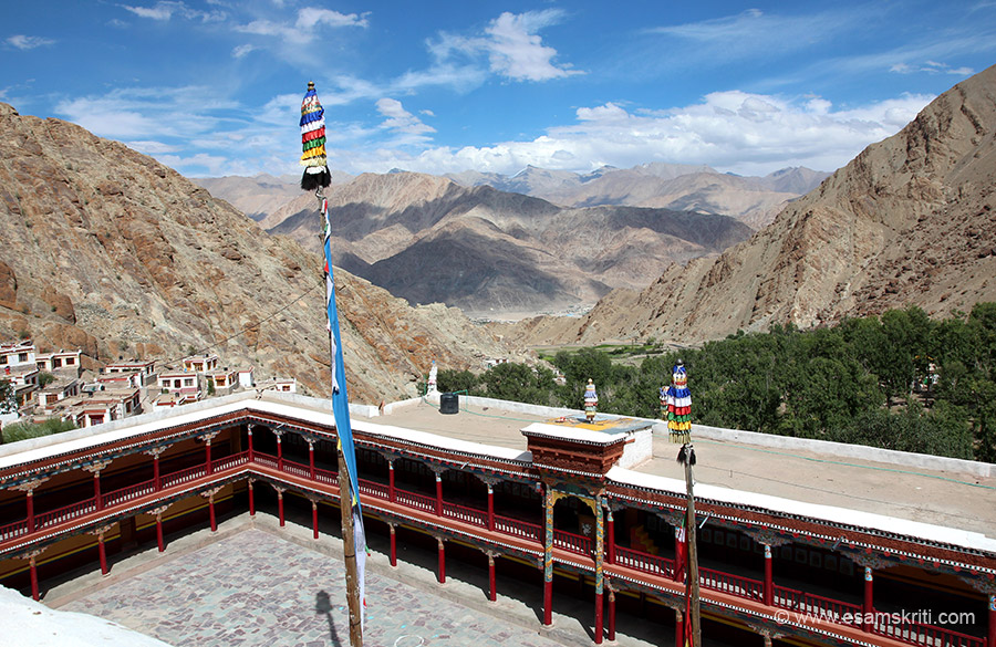 View from top of monastery.