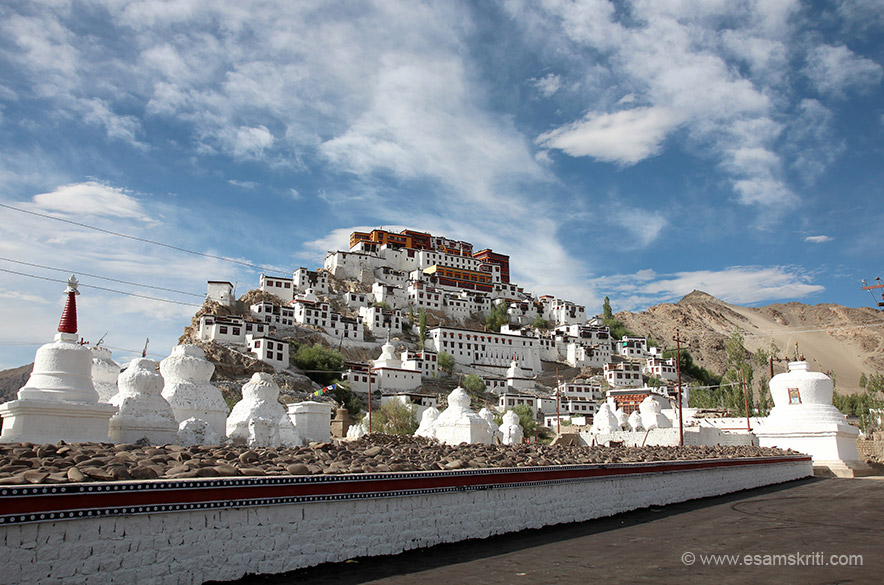 View of the Thiksey Monastery. Truly connected with this monastery at a deeper level, did not wish to leave. Hope to be there soon.