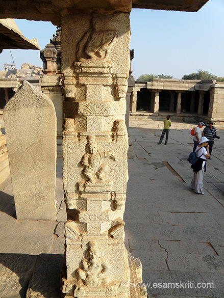 Every pillar has work of some god or goddess. U see one such pillar. Some of the narrative content borrowed from booklet published by the Archaelogical Survey of India.