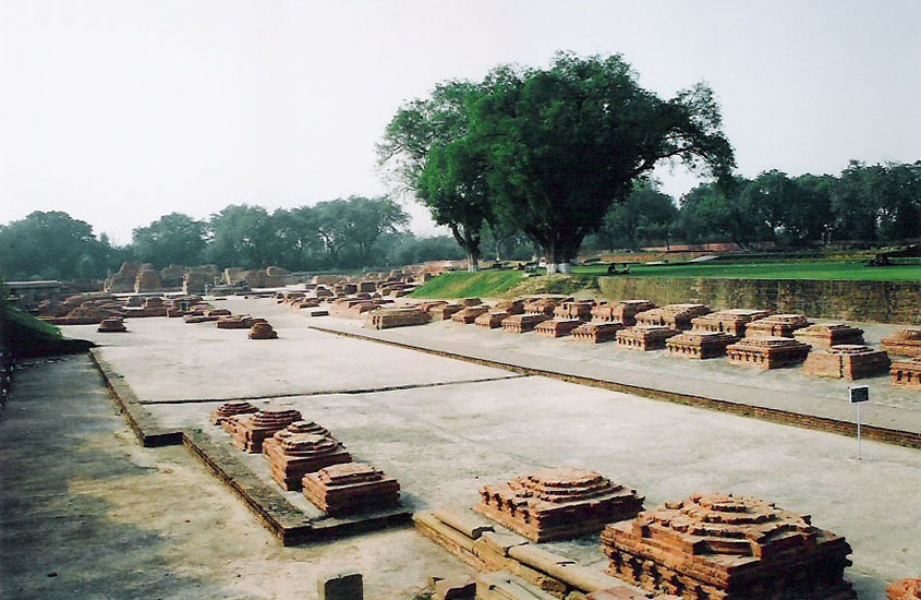 You see the ruins that form part of the Sarnath complex. We were told learned men held discussions here.