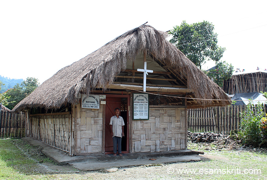 It is actually just a small hut. Roing has a large number of Churches including in interior areas.