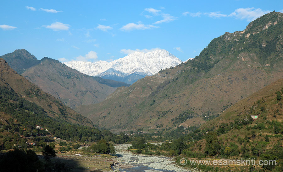 View enroute to temple. ``According to tradition Ravan's grandfather Pulasta Rishi performed his tapasya here and had a darshan of Lord Shiva.``