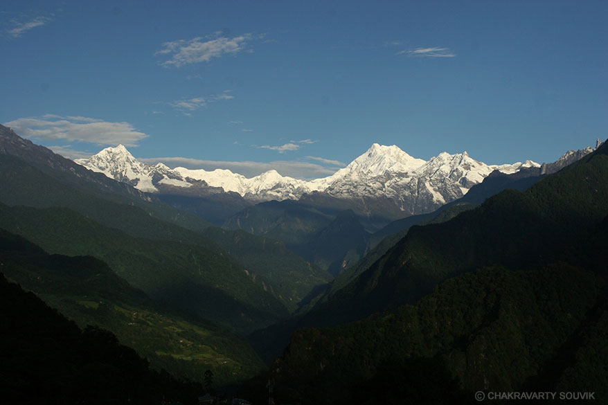 View of Mt.Kanchenjungha and other mountains from Singhik.