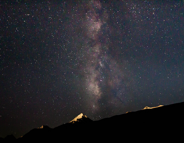 "Milky Way captured from Chandratal. To read a very good blog on visit to Chandratal <a href=""http://traveltalesfromindia.in/2015/09/how-to-reach-chandratal-lake/"" target=""_blank"">Click here</a>"