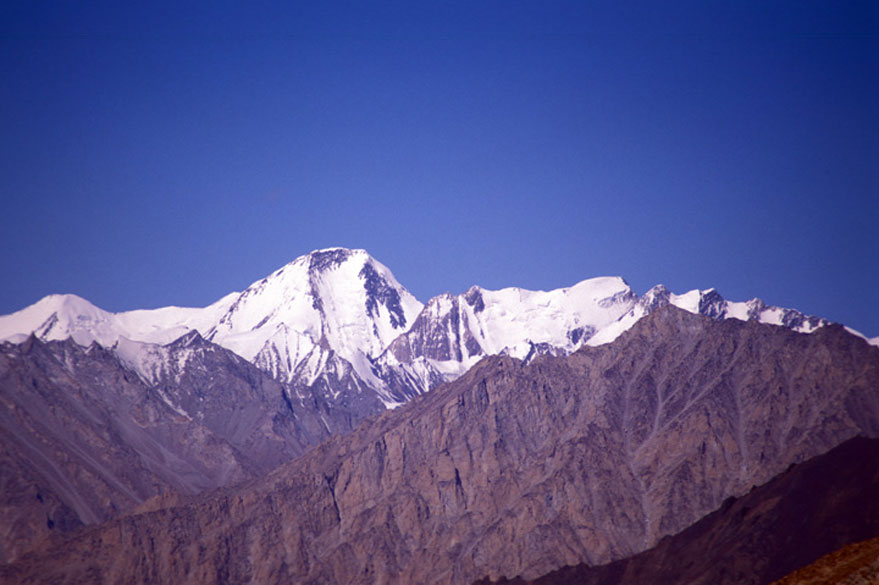 You see Argan Kangri from Khardung La.