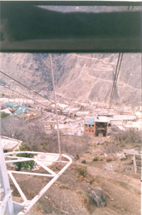 Clicked from inside the cable car, the building you see below is from where the ropeway took off