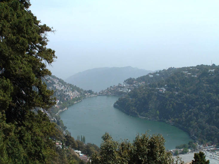 A shot from the Nainital Lake View Point