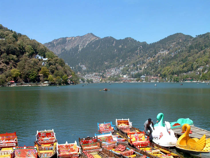 On the shores of the serene waters of Nainital Lake (Naini Jheel