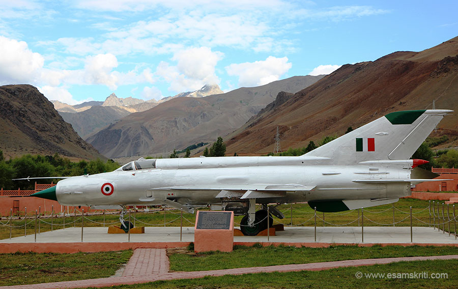 The IAF under Operation Safed Sagar played a stellar role during the 1999 Kargil war. MIG 21 successfully played havoc with the Paki troops entrenched at the heights. The MIG 21 displayed